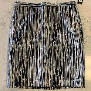 Black and White Pencil Skirt Size 10 NWT
